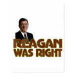 Reagan Was Right Postcard