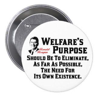 Reagan: Welfare's Purpose Pinback Buttons