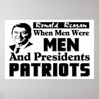 Reagan: When Men Were Men! Posters