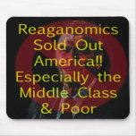 Reaganomics América agotada Tapetes De Ratón