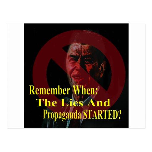 Reaganomics Sold Out America Postcard