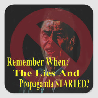 Reaganomics Sold Out America Sticker