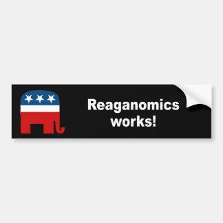 Reaganomics works bumper stickers