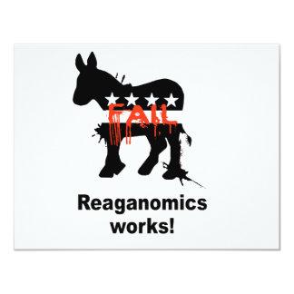 "Reaganomics works 4.25"" x 5.5"" invitation card"