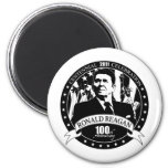 Reagan's 100th Anniversary 2 Inch Round Magnet