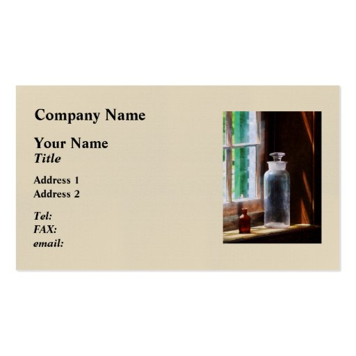 Reagent Bottle and small Brown Bottle Business Card