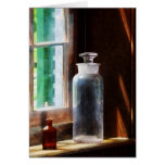 Reagent Bottle and Small Brown Bottle Greeting Card