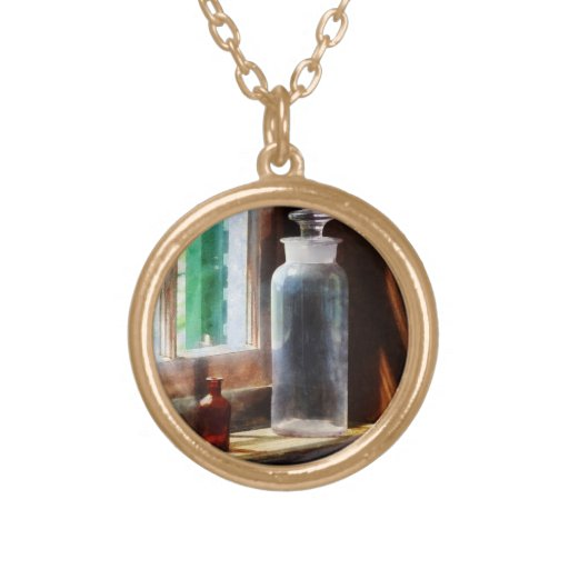 Reagent Bottle and Small Brown Bottle Necklaces