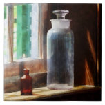 Reagent Bottle and Small Brown Bottle Ceramic Tiles