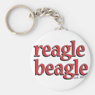 reaglebeagle basic round button keychain