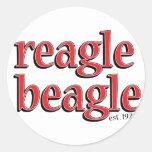 reaglebeagle etiqueta redonda