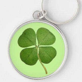 Real 4 Leaf Clover Shamrock Keychain