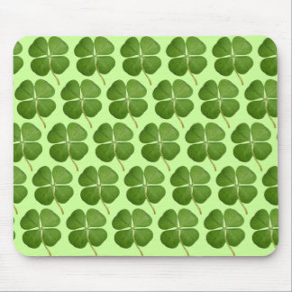Real 4 Leaf Clover Shamrocks Mouse Pad