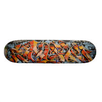 Real Abstract Graffiti Art Skate Board Decks
