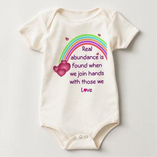 real abundance infant onsie creeper