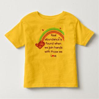 real abundance toddler shirt