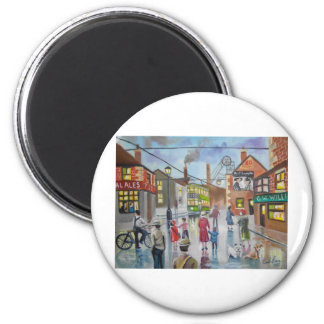Real Ales Pub oil painting Gordon Bruce 2 Inch Round Magnet