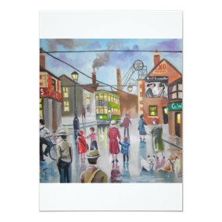 Real Ales Pub oil painting Gordon Bruce 5x7 Paper Invitation Card