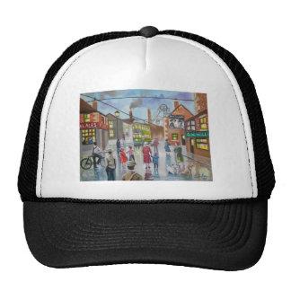 Real Ales Pub oil painting Gordon Bruce Trucker Hat