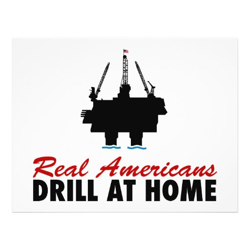 Real Americans Drill At Home Flyer Design