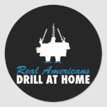 Real Americans Drill At Home Stickers