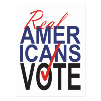 Real Americans Vote Checkmark Election Postcard
