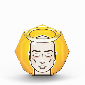 Real Angel Gold ring Holy Person bald headed Acrylic Award