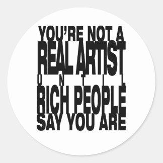 Real.Artist Classic Round Sticker