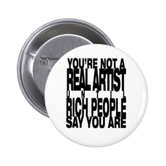 Real.Artist Pinback Buttons