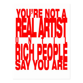 Real.Artist.red Postcard