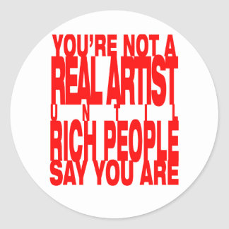 Real.Artist.red Round Stickers