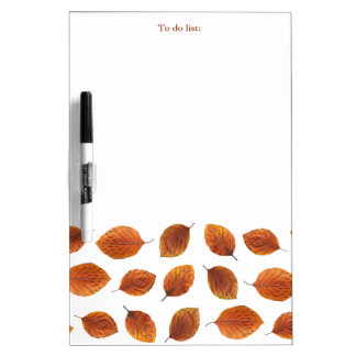 Real Autumn Leaves Pattern Dry Erase Board