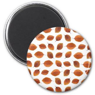 Real Autumn Leaves Pattern Magnet