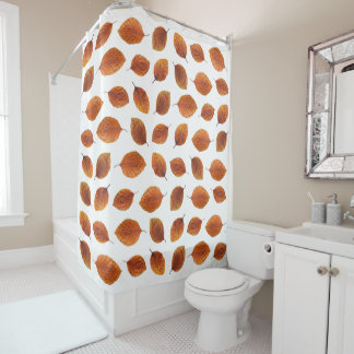 Real Autumn Leaves Pattern Shower Curtain