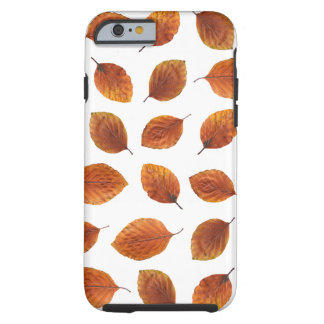 Real Autumn Leaves Pattern Tough iPhone 6 Case