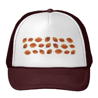 Real Autumn Leaves Pattern Trucker Hat