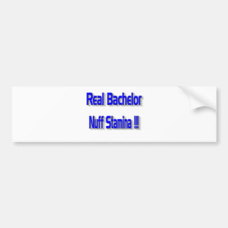 Real Bachelor Car Bumper Sticker