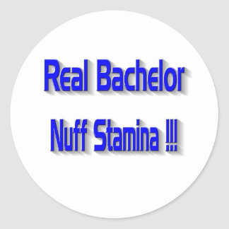 Real Bachelor Classic Round Sticker
