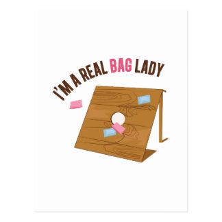 Real Bag Lady Postcard