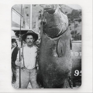 Real Big Fish, early 1900s Mouse Pad