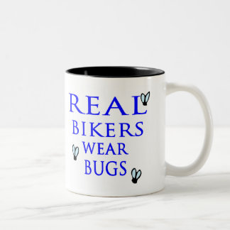 Real Bikers Wear Bugs Two-Tone Coffee Mug