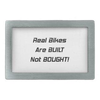 Real Bikes Are Built Not Bought Rectangular Belt Buckles