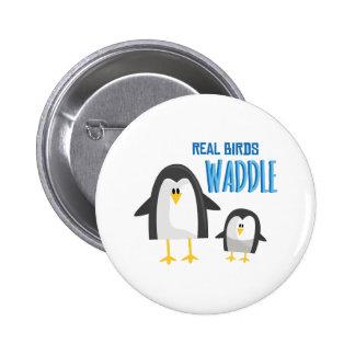 Real Birds 2 Inch Round Button