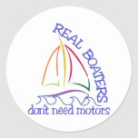 Real Boaters Classic Round Sticker