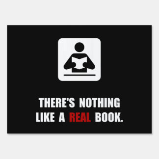 Real Book Lawn Sign