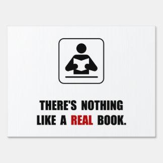 Real Book Yard Sign