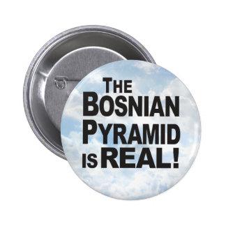 REAL bosnio de la pirámide apilado - botón redondo Pin Redondo De 2 Pulgadas