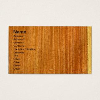 Real Burmese Padauk Veneer Woodgrain Business Card