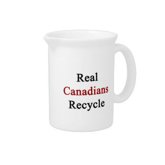Real Canadians Recycle Drink Pitcher