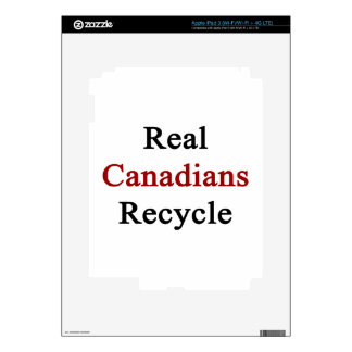 Real Canadians Recycle iPad 3 Decal